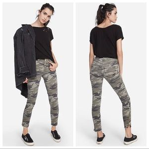 NWT Express Mid-Rise Camo Ankle Legging Jeans 00